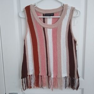 BNWT Almost Famous Sweater Vest with fringe
